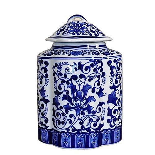 Cxp Boutiques Stil Chinesische Blaue und weiße Porzellan-Glasur-Farbkeramik-Glas-europäische Sammelbehälter-Tee-Geschäftsporzellan-Blumen-Topf-Kunstsammlung Elegant