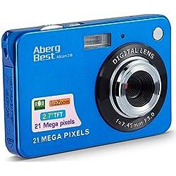 AbergBest Appareil Photo 2.7 LCD Rechargeable HD Digital Camera Caméra vidéo numérique pour Les étudiants, Les Enfants, Les Adultes (Bleu)