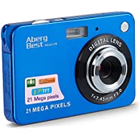 "AbergBest 21 Mega Pixels 2.7"" LCD Rechargeable HD Digital Video Students Cameras-Indoor Outdoor for Adult/Seniors/Kids (Blue)"