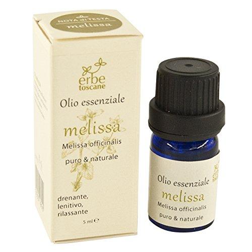 Olio essenziale MELISSA 5 ml – Puro Concentrato di Natura – Prodotto...