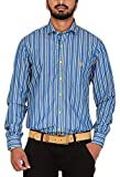 Botticelli Men's Blue Stripes Full Sleev...