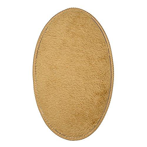 Rokoy stuoia ovale pelosa e carina in velluto, soggiorno tappetini bagno camera da letto tappetino antiscivolo spessa