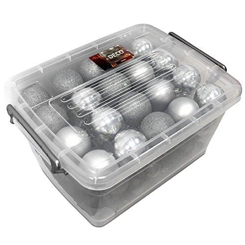 Unbekannt christmas gifts palle di natale, in plastica, plastica, argento, 70x