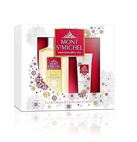 Mont Saint Michel Coffret 2 Produits Instant Ensoleillé Eau de Cologne Flacon 250 ml/Crème pour les Mains 50 ml