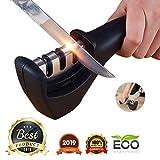 FLYNGO Manual Knife Sharpener 3 Stage Sharpening Tool for Ceramic Knife and Steel