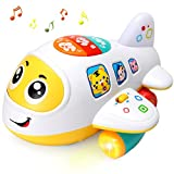 Baby Spielzeug elektronisches Flugzeug Spielzeug mit Licht und Musik Best pädagogisches Spielzeug für Kinder für Kleinkinder Jungen und Mädchen 1 2 3 4 5 Jahre alt