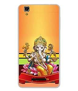 YU Yureka Plus, Yu Yureka PlusYU5510A Back Cover A Statue Of An Indian God Lord Ganesha On Colourful Background. Design From FUSON