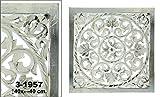 DonRegaloWeb - Retablo mandala cuadrado de madera calada en color blanco y plata