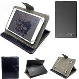 K-S-Trade Schutz Hülle Tablet Case für Archos 80 Cesium, schwarz. Tablet Hülle mit Standfunktion Ultra Slim Bookstyle Tasche Kunstleder