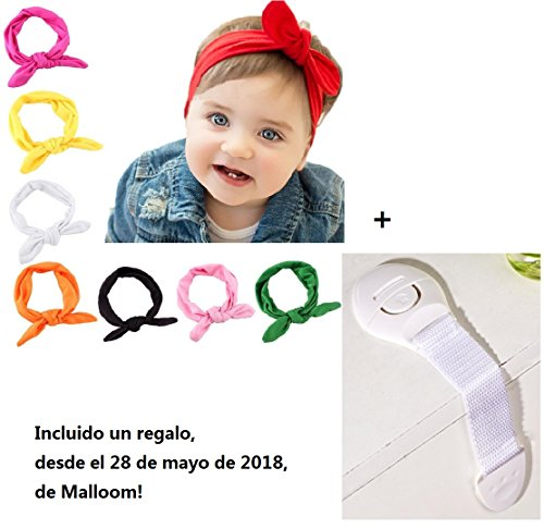 282afd966 Malloom Bebé niños niñas Bowknot Mini diadema elástica venda (8 pcs ...