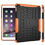 WindCase iPad Air 2 Hülle, Outdoor Dual Layer Armor Tasche Heavy Duty Defender Schutzhülle mit Ständer Case für iPad Air 2 (iPad 6) Orange