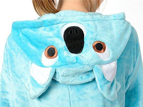 Cliont Pyjama de koala animal Kigurumi Vêtements de nuit Costume de nuit Costume Anime Cosplay Noël Onesie Bleu