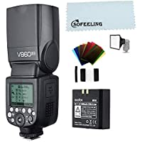Godox V860II-N TTL 2.4G GN 60 TTL HSS 1 / 8000S Batería de Litio de Destello,para Nikon Camera (V860II-N)
