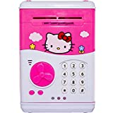 Pink Money Safe With Smart Lock Piggy Bank ATM For Kids By SaShi (Color And Design May Vary)