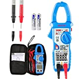 Clamp meter Janisa MT100 Fully Automatic Voltage Clamps Digital Multimeter AC DC 600 Amps 5999 Counts - for Factory School Lab Home Hobby Machine Repairing