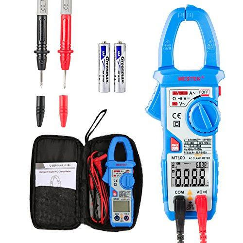 Stromzange Janisa MT100 Digitale Strommesszange Amperemeter Voltmeter Vollautomatisch AC DC Multimeter Zange mit 600 Amp Anwendung in Fabriken Schulen Labors zu Hause bei handwerklicher Arbeit