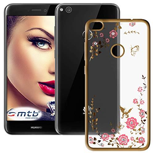 mtb more energy® Schutz-Hülle Bloomy für Huawei P8 Lite 2017 / P9 Lite 2017 (5.2'') | Gold | TPU Case Cover Tasche
