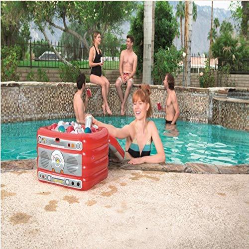 LXJ-LD EIS Serviertablett/aufblasbare Lebensmittel Behälter Salat Obst kann Kühler Float für Schwimmbad -