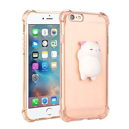 Sky Deck Weich Träge Gehäuse für die Rückseite des Ohradapter des klar Faultier der Katze für das iPhone 6/6S 4.7Silicone Back Soft Case Cover Pink Galaxy S3 3d Fall Tragen