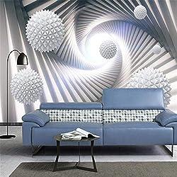 Tapiz geométrico abstracto 3D. 400Cm * 280Cm