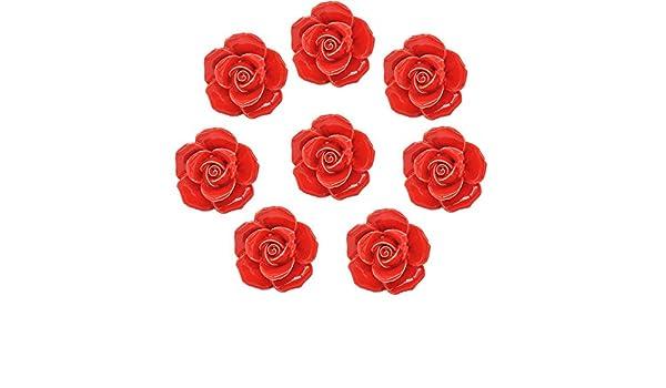 BOUTON ANCIEN  VINTAGE fleur argent et rose 1,8 cm