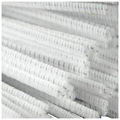 SODIAL R  100 Pcs 30cm creation pipe cleaners  white