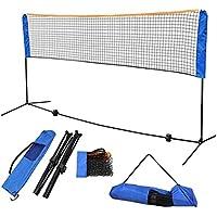 Red de tenis Voleibol portátil Net Mobile Post bádminton neto set de los cabritos de fútbol Pista de Pickleball neto del tenis del fútbol neto Por tenis exterior ( Color : Blue , Size : 4.1M )