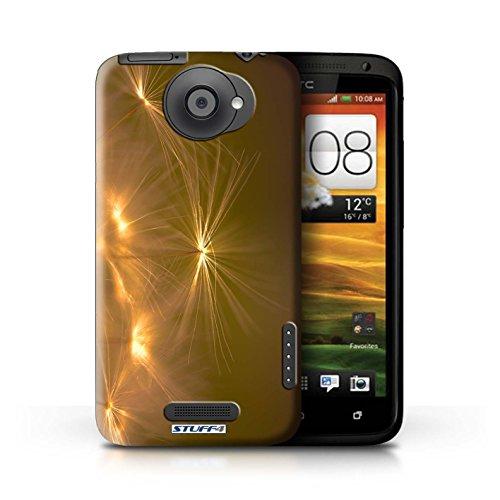 Kobalt® Imprimé Etui / Coque pour HTC One X / Orange conception / Série Allumez la vie Orange