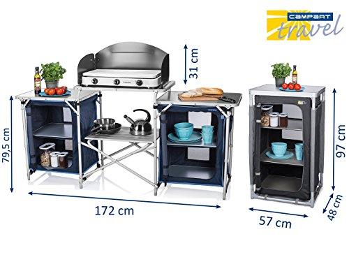 Campart travel unbekannt xxl cucina da campeggio & armadio pieghevole bar nel set–per outdoor cucinare & vivono–cucina–armadio a due ante