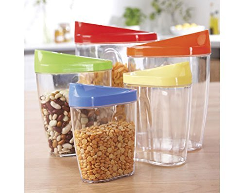 store-and-pour-dry-food-clear-storage-containers-store-pasta-rice-cereal-set-of-5-by-klife