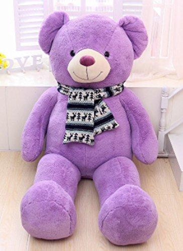 Vercart Schönes Geschenk Plüschbär Riesen Gentleman Plüsch Bär Puppe lila 120CM - Valentines Teddy Bär Riesen
