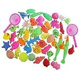 Fenteer Kinder Angelspiel Bad Fischen Spielzeug Badespiel Wasserspielzeug - 46 Stück