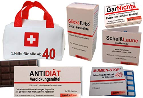 Erste Hilfe Tasche zum 40. Geburtstag (5-teilig)
