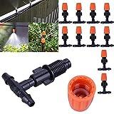 Neilyn 10 Teile/Satz Micro Tropfbewässerung Zerstäubungsdüse Wasserregelung Sprayer Anlage Selbstbewässerung Gartenschlauch Sprinkler Düsen
