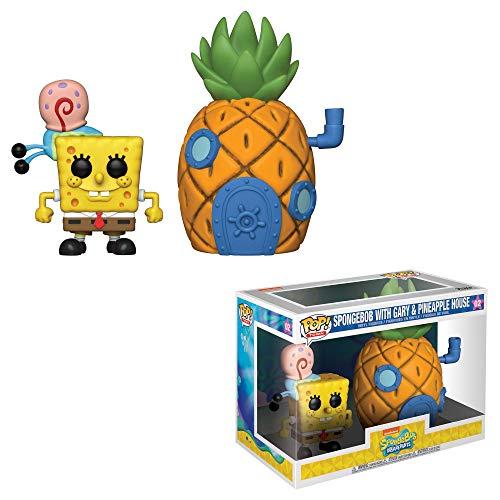 Funko-  Pop Vinilo Squarepants S3: Spongebob w/Pineapple Figura Coleccionable,  (39547)
