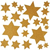 Herma 5957 Fensterbilder Sterne, 30 x 30 mm, gold