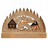 """Wonderful LED Candle Arch with Brown Decorative Elements–6"""" Hirsch"""