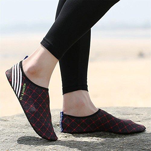 Eagsouni® Unisexe Pieds Nus Aquatique Chaussures de Peau Aqua Chaussettes Pour Plage Swim Surf Yoga Gym #4Noir