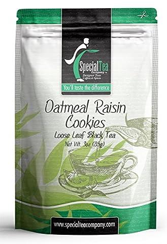 Oatmeal Raisin Cookies Loose Leaf Black Tea 3 oz. with Free Tea Infuser