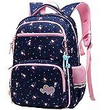 TCYIN Rucksack für Kinder Schulrucksack Mädchen Jungen Wasserdichte Schultaschen Bookbag Daypack (Navy Blau)