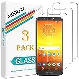 MOOKLIN Motorola Moto E5 Protector de Pantalla,[3 Piezas] [Anti-Rasguños] [Dureza 9H] [Alta Definición] Film para Motorola Moto E5 Cristal Vidrio Templado Premium