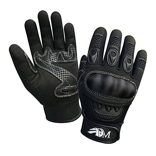 Prime Ganzer Finger Motorrad Sport Reiten Mountainbike Schutz Sommer Handschuhe 9001 - Schwarz, Small - 2