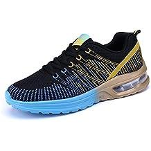 9594e7d6eb02d Zapatos de Running para Hombre Mujer Zapatillas Deportivo Outdoor Calzado  Asfalto Sneakers Negro Rojo Gris 35