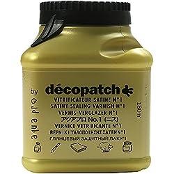 Décopatch VA180BO - Un pot de Vernis vitrificateur Décopatch 180 ml, aspect Satiné