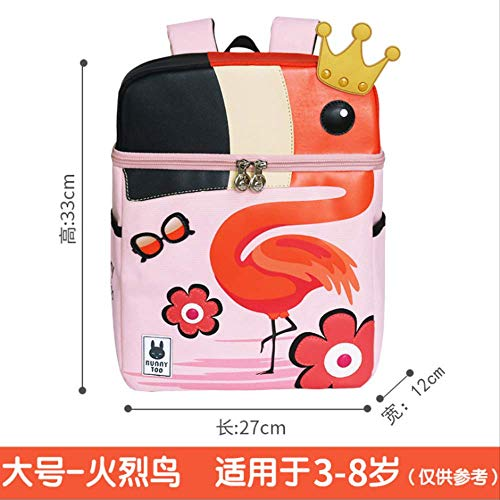 fhdc Zaino Zaino Scuola Materna Zaino Per Bambini Coreani Per Bambini E Bambini Zaini Per ScuolaBig - Flamingo