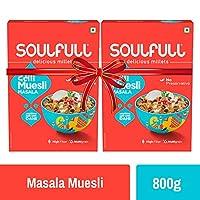 Soulfull Baked Desi Muesli, Masala Super Saver Pack- High in Fiber, 800g