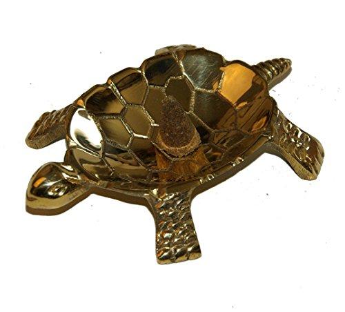 Tartaruga in ottone-Ciotola di incenso Cono bruciatore/nead 4