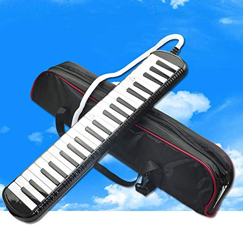 QING.MUSIC Wind instrument 41 Tasten Melodica Black Piano air Keyboard für Anfänger