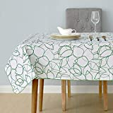 Best Green Forest Dining Tables - Deconovo Oxford Fabric Rectangular Waterproof Tablecloth Wipe Clean Review