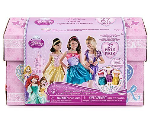 Disney Princess Dress Up Trunk Ariel Belle Rapunzel Outfits Jewelry 27 Pieces by Disney Princess
